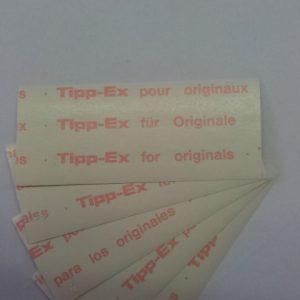 Tipp-Ex correctie papier
